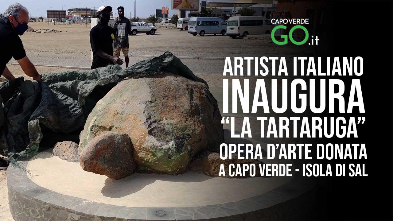 giovanni mandolesi inaugura seconda opera d'arte a capo verde